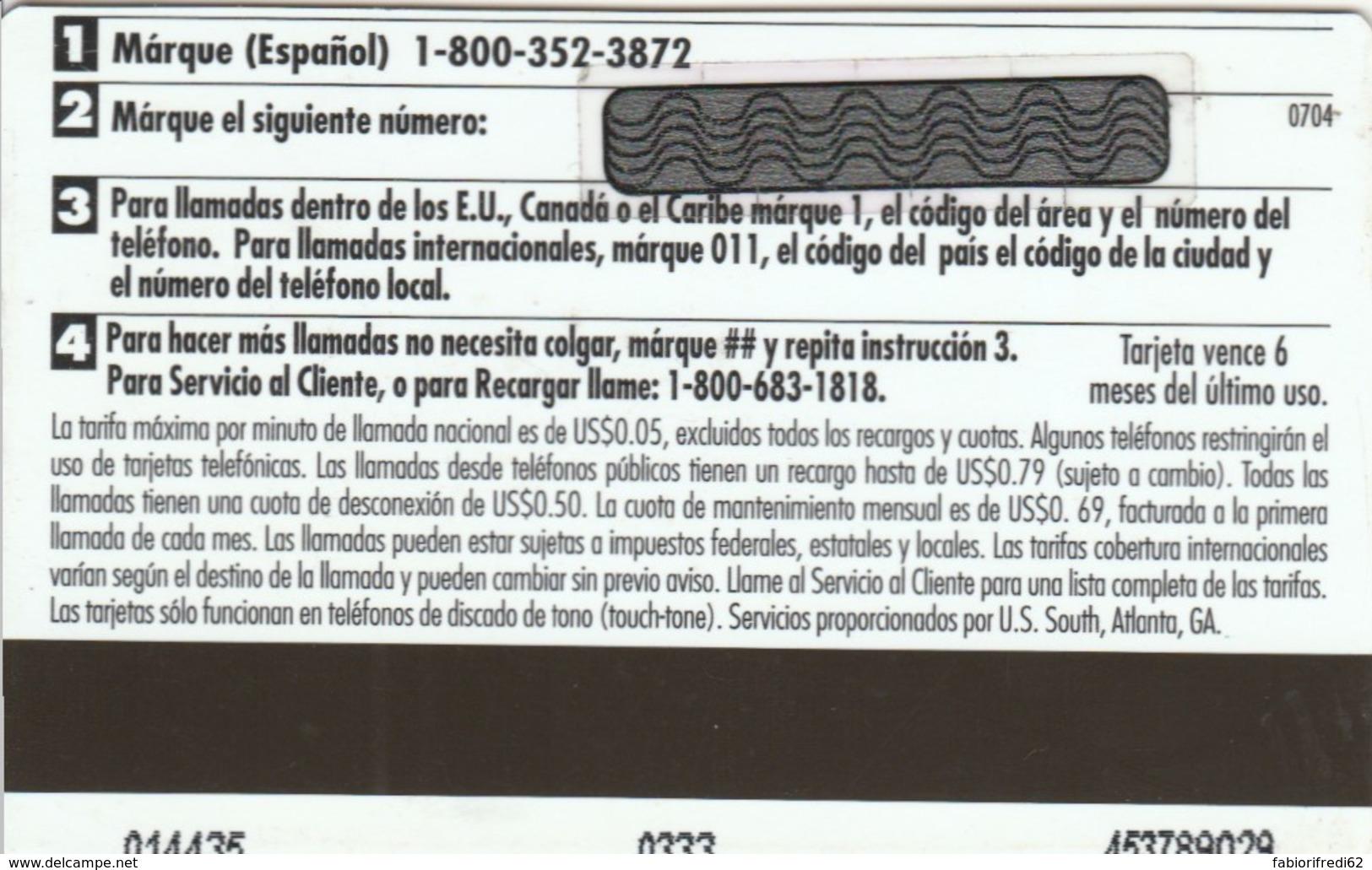 PREPAYD PHONE CARD STATI UNITI (E51.2.7 - Andere