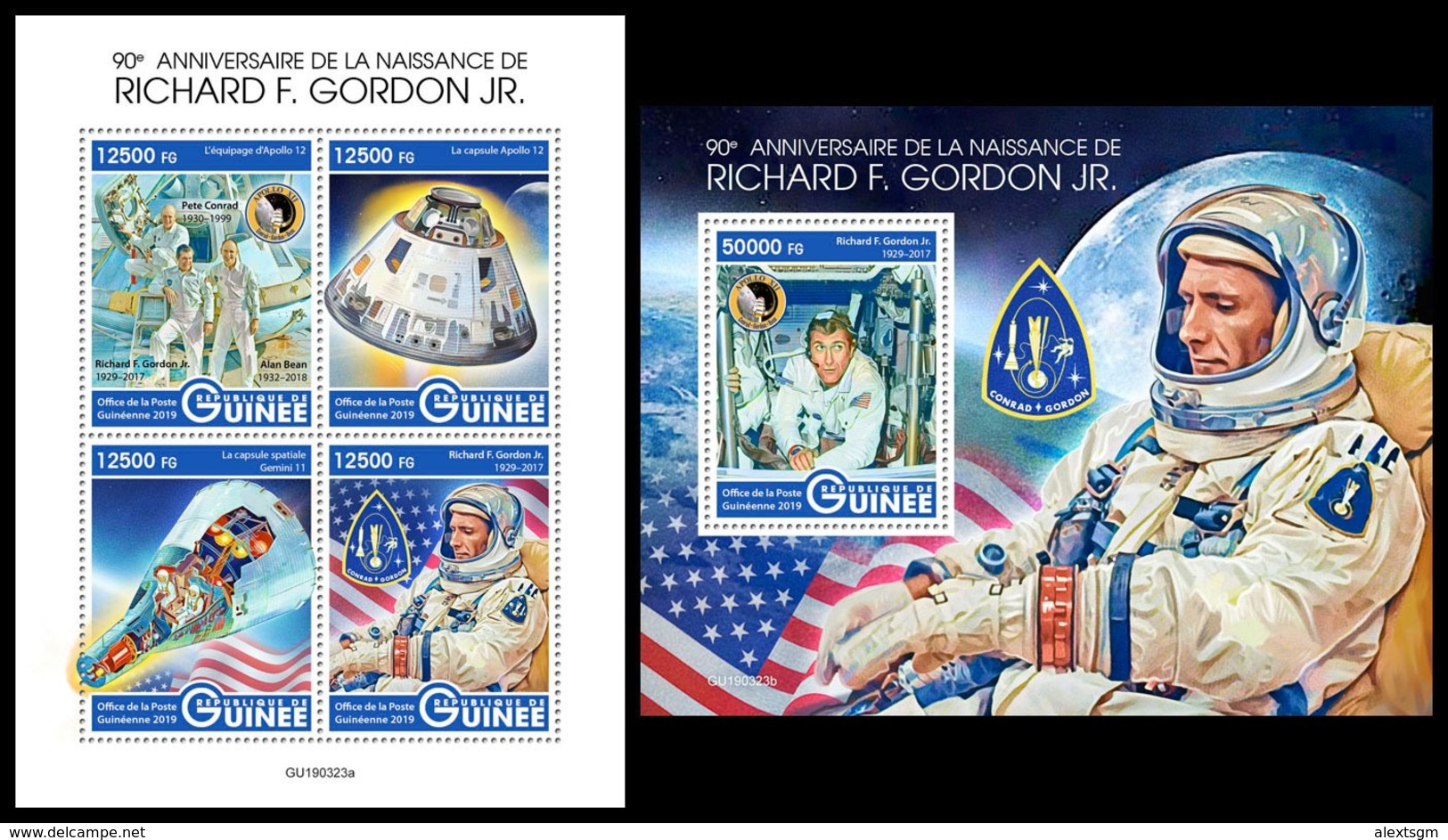 GUINEA 2019 - R. Gordon, Space. M/S + S/S. Official Issue [GU190323] - Space