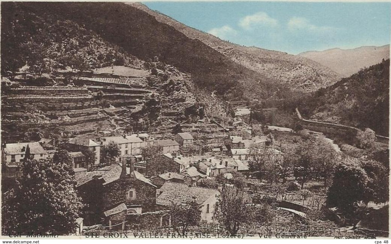 Lozère :  Ste Croix Vallée Française, Vue Générale - France
