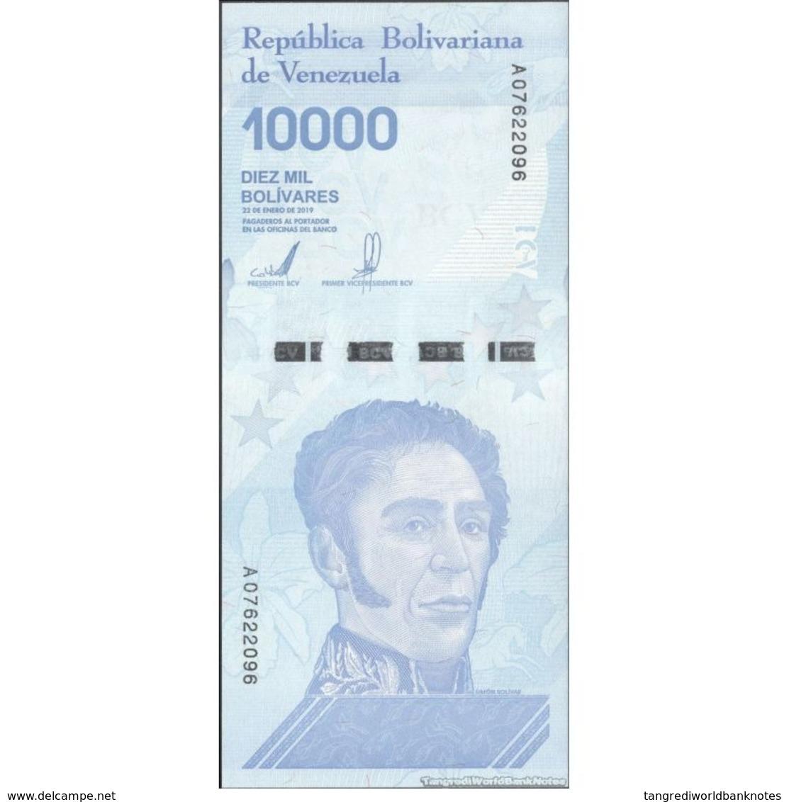 TWN - VENEZUELA NEW - 10000 10.000 Bolivares 22.1.2019 Prefix A UNC - Venezuela