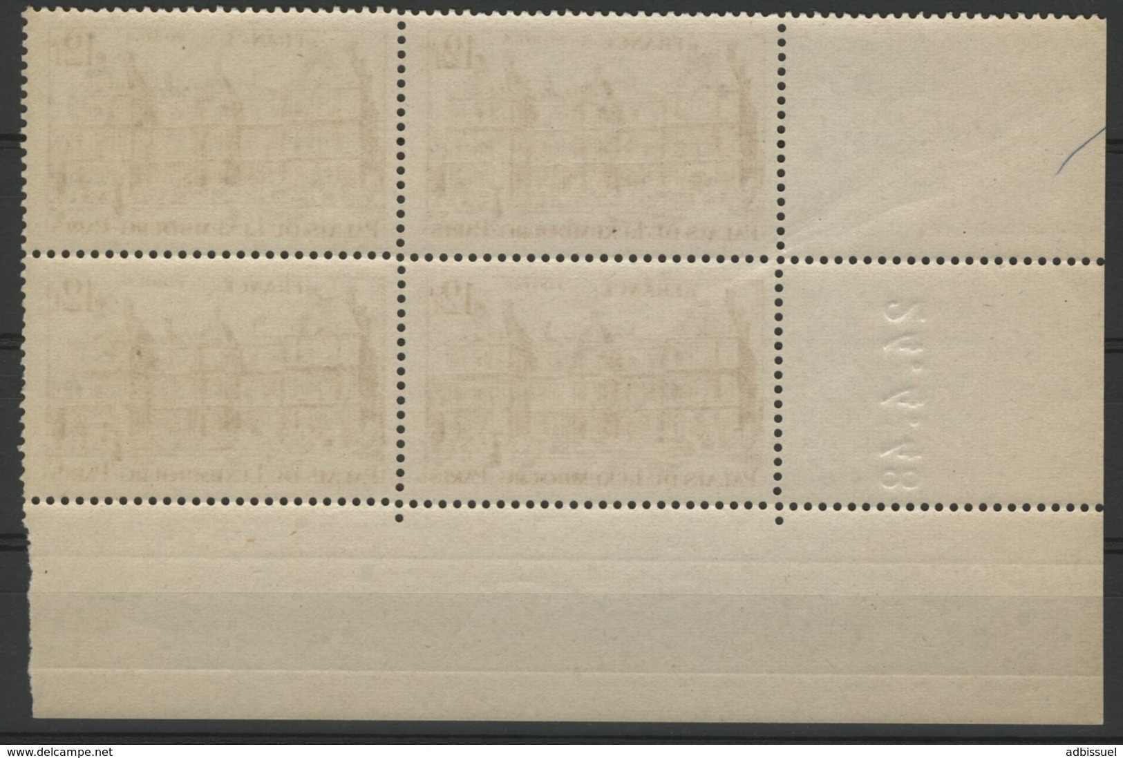 "N° 803 ** (MNH). Cote 19 €. Coin Daté Du 24/4/48 / ""Palais Du Luxembourg"" - Ecken (Datum)"