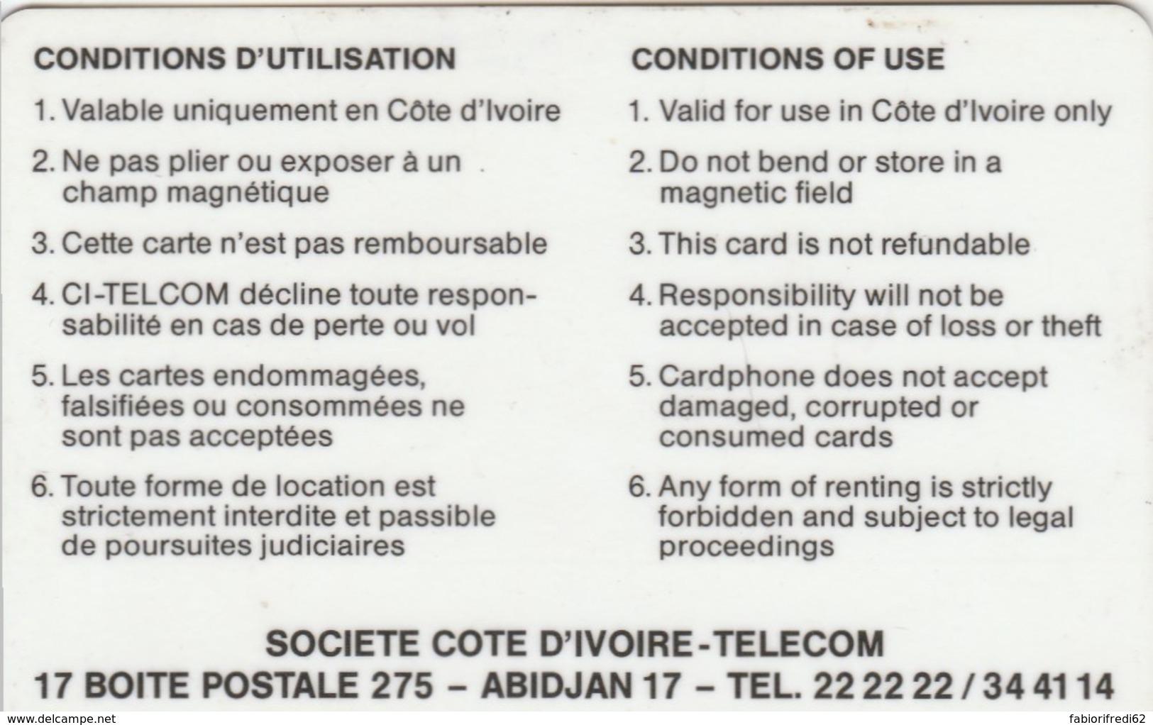 PHONE CARD COSTA D'AVORIO (E51.17.1 - Costa D'Avorio