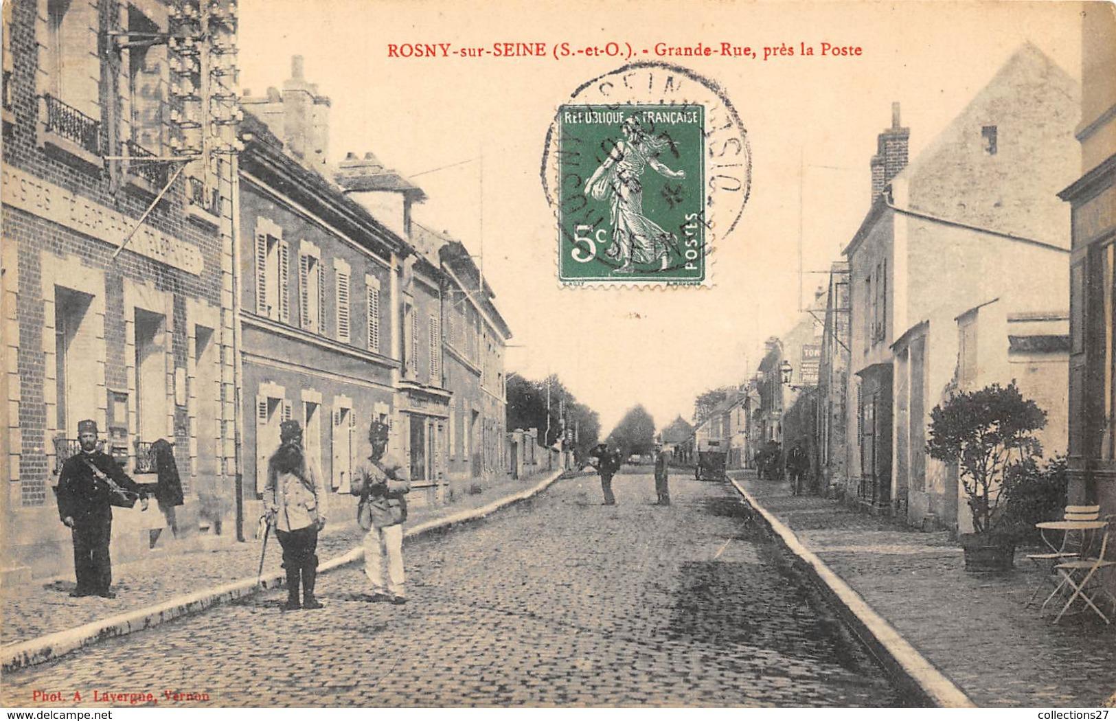 78-ROSNY- GRANDE RUE PRES LA POSTE - Rosny Sur Seine