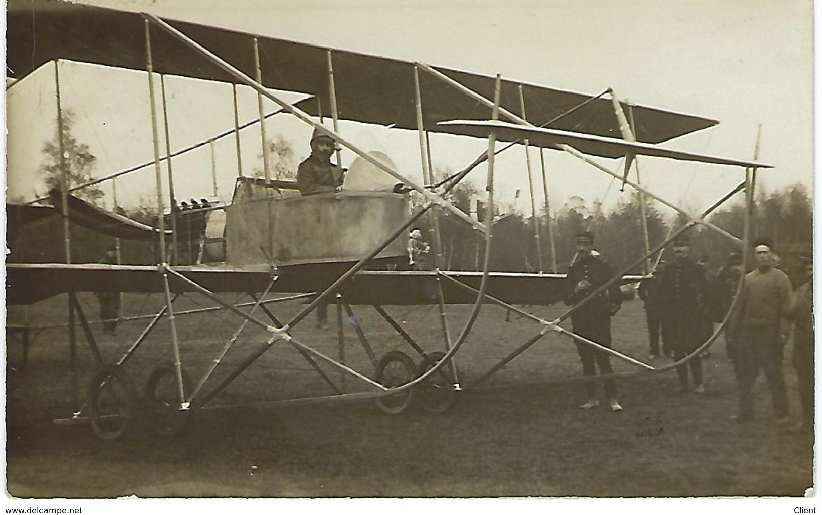 FRANCE - CARTE TRES TRES RARE - Carte Photo Envoyée Par Le Capitaine MARLIN RENE VIVANT Qui Se Trouve Dans L'avion 1912 - Guerre 1914-18