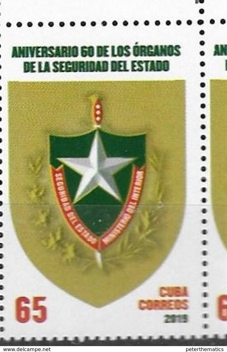 SECURITY , 2019, MNH, POLICE, STATE SECURITY FORCES,1v - Police - Gendarmerie