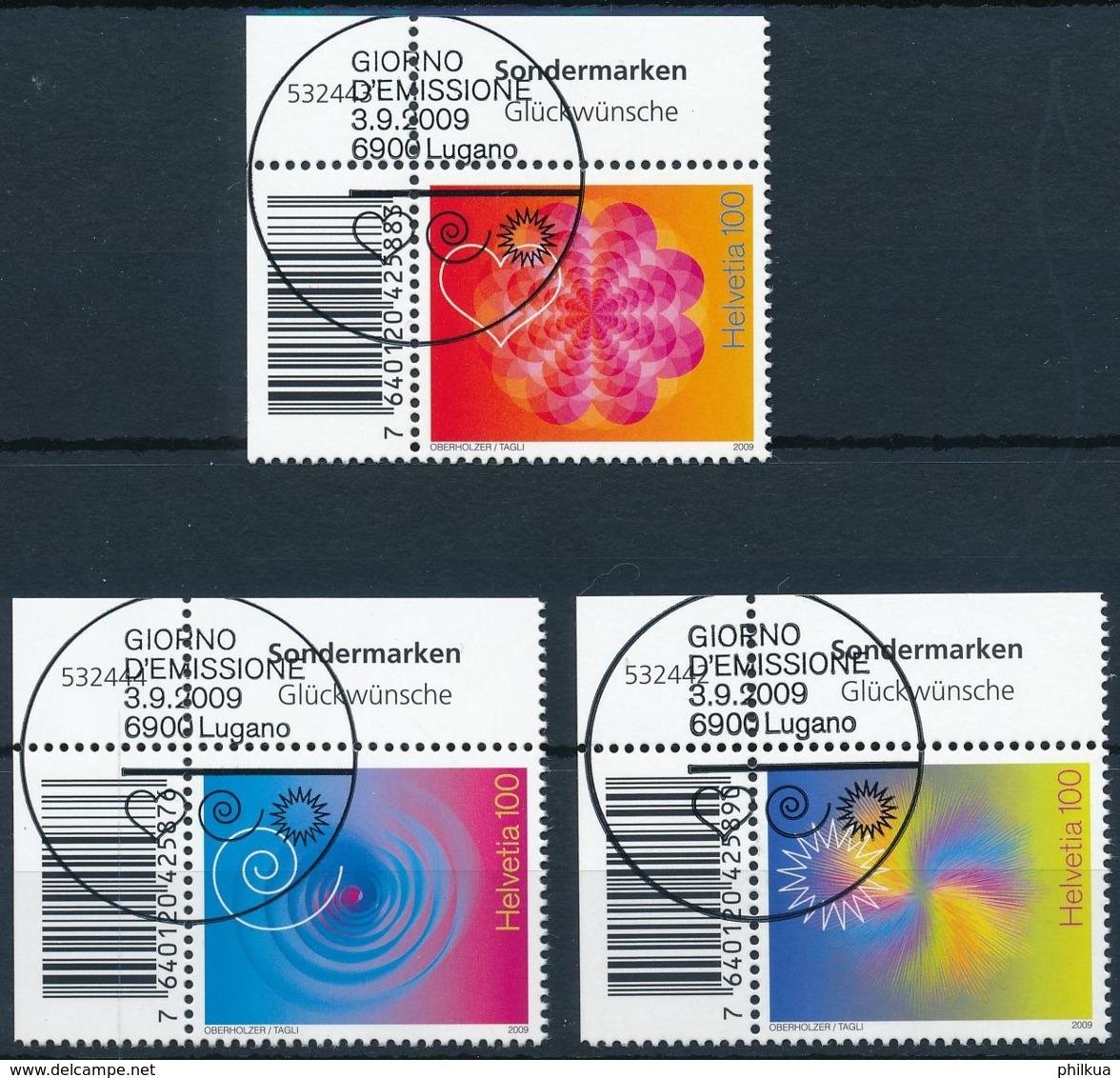 1320-1322 Eckrandstück Serie Mit ET-Vollstempel / Obliteré Plein - Used Stamps