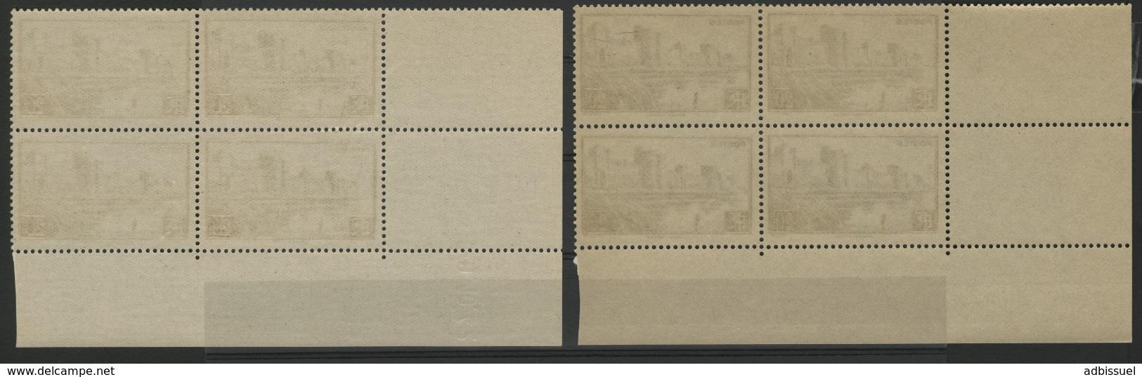 """N° 501 (x8) ** (MNH). Deux Coins Datés Du 2/4/42 Et 9/10/42 / Blocs De Quatre """"Remparts D'Aigues Mortes"""". - 1940-1949"""