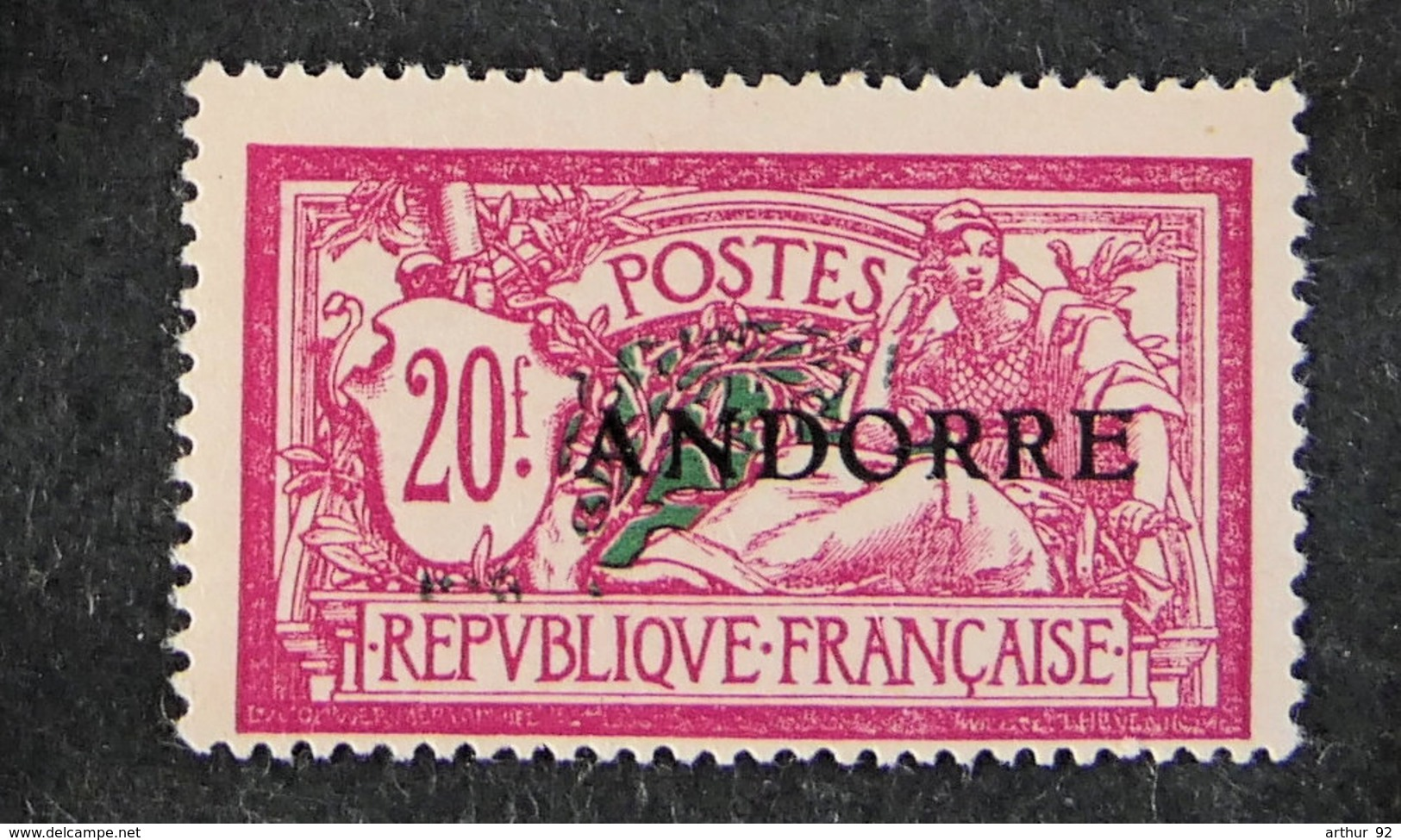ANDORRE FRANCAIS - 1931 - YT 23 * - Type Merson - Unused Stamps