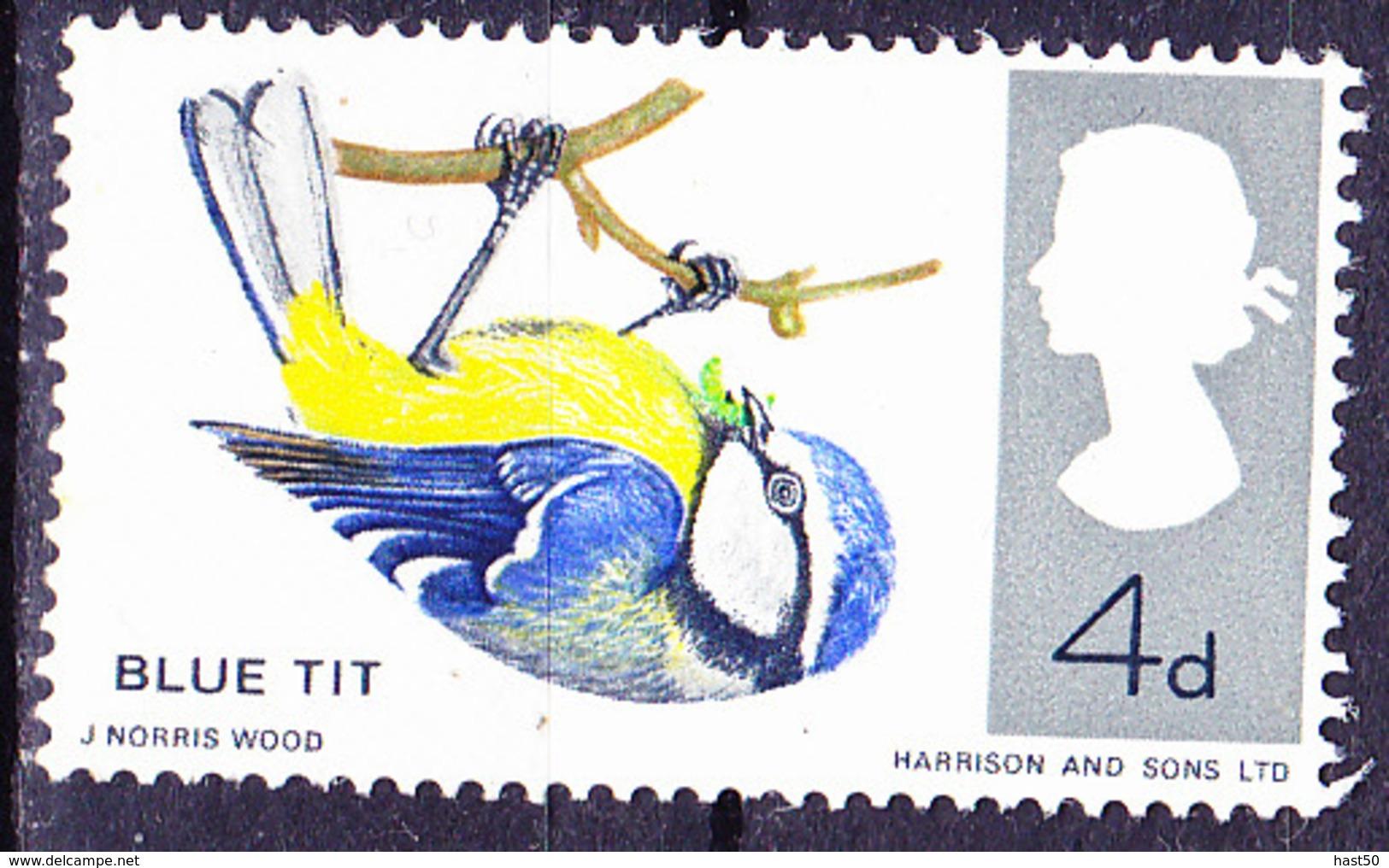 Großbritannien Great Britain Grande-Bretagne - Blaumeise (Parus Caeruleus) (MiNr: 426x) 1966 - Postfrisch MNH - Unused Stamps
