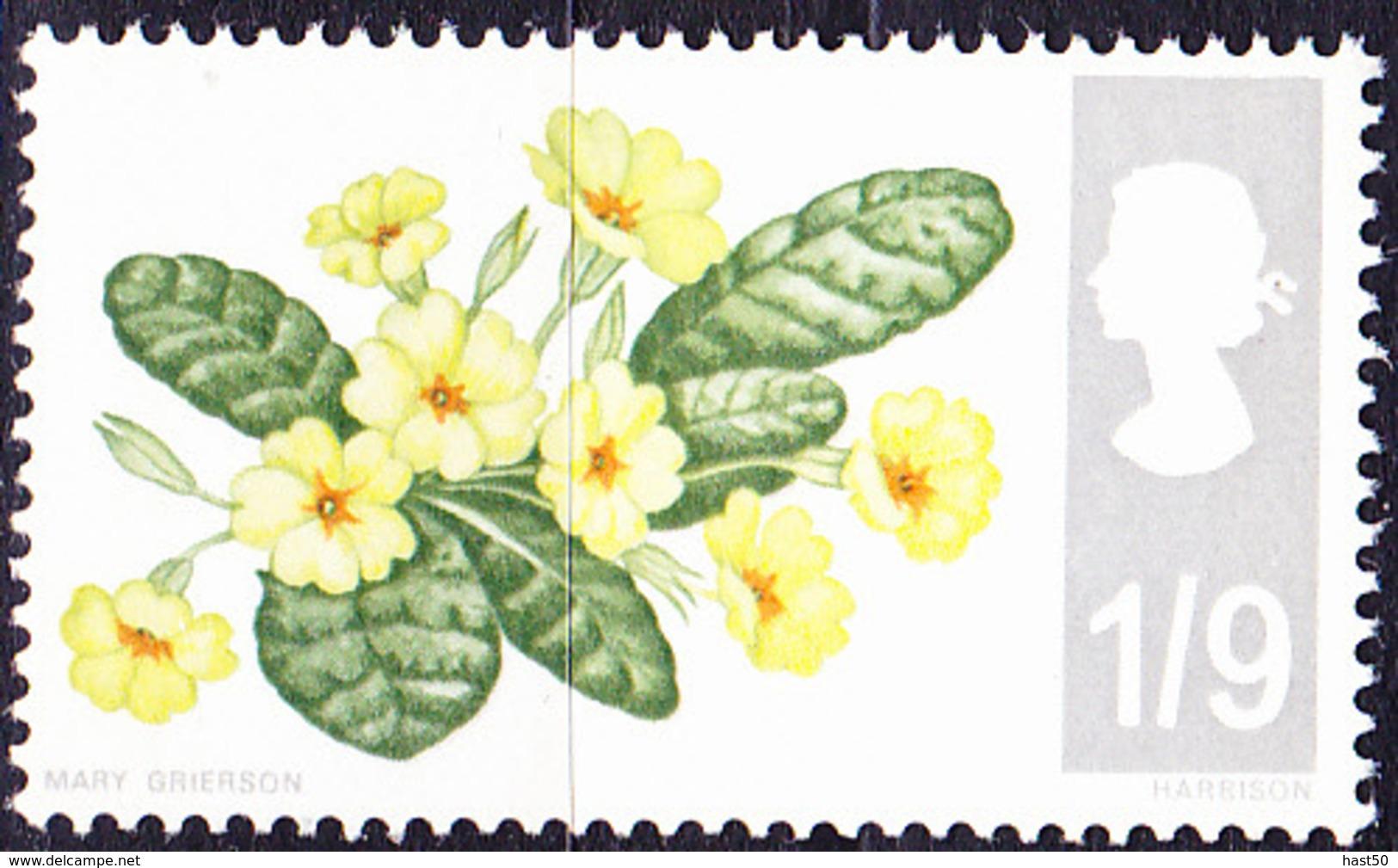 Großbritannien Great Britain Grande-Bretagne - Kissenprimel (Primula Vulgaris) (MiNr: 451 Y) 1967 - Postfrisch MNH - Unused Stamps