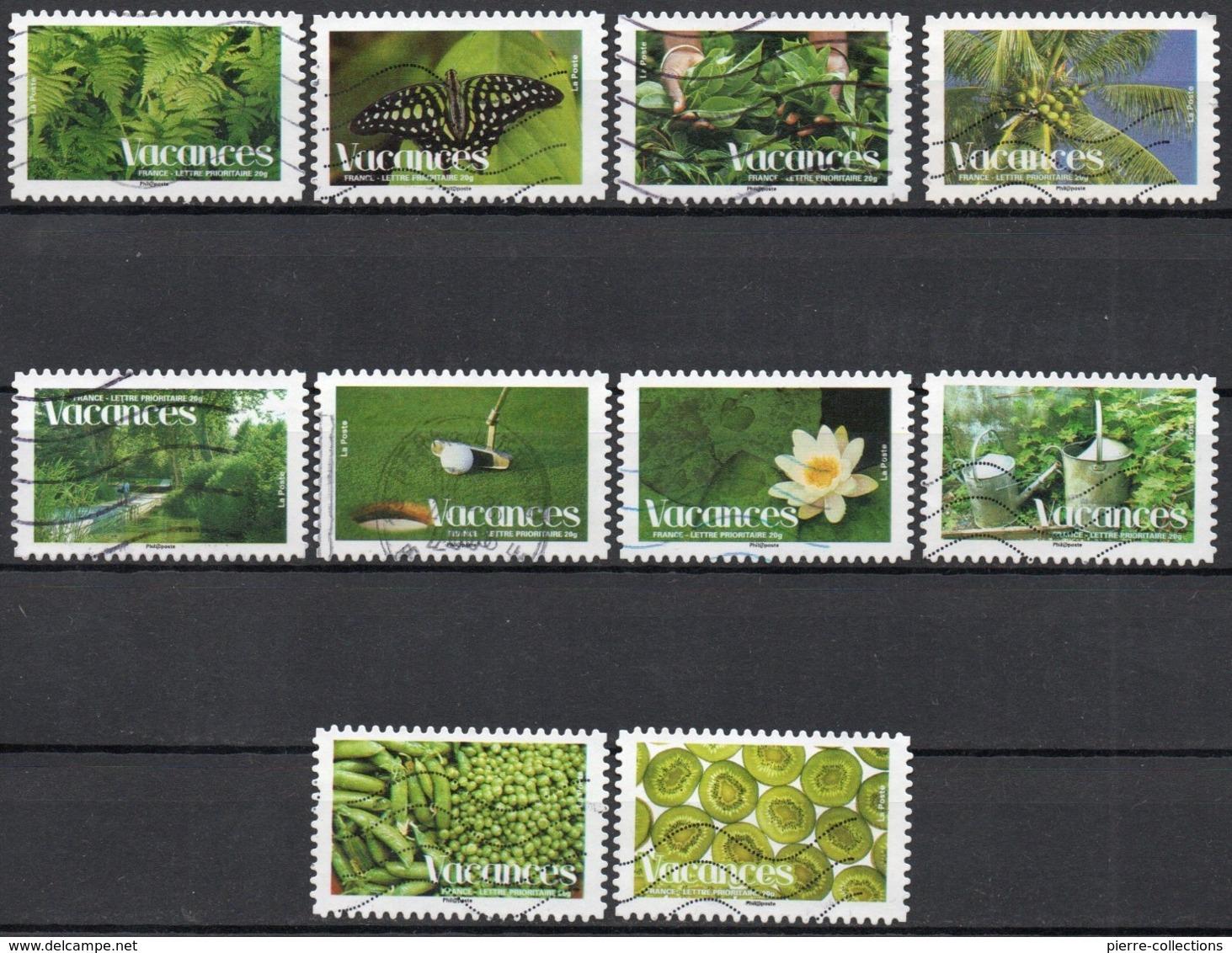 France - Adhésifs N° 165 à 174 Oblitérés - Série Complète - Vacances - Francia