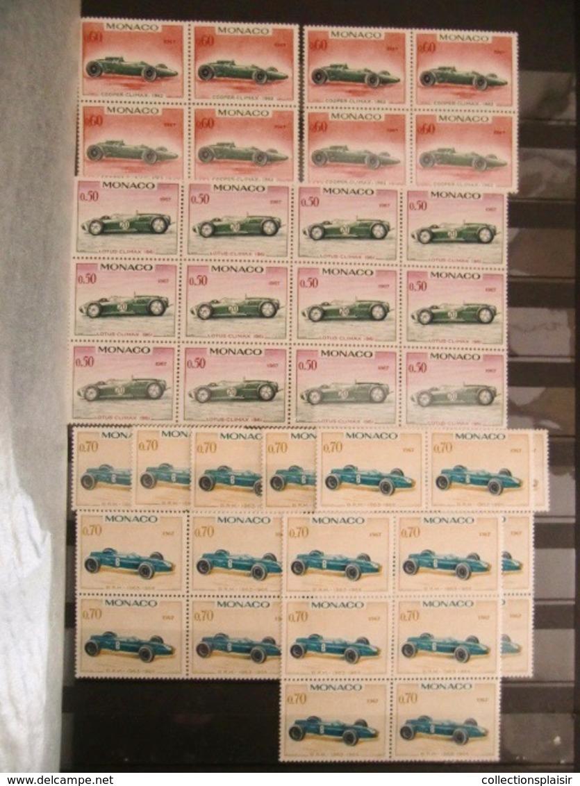 MONACO LIQUIDATION TRES IMPORTANTE COLLECTION DE TIMBRES NEUFS** EN MAJORITE NOMBREUX MULTIPLES BLOCS COINS DATES - Monaco