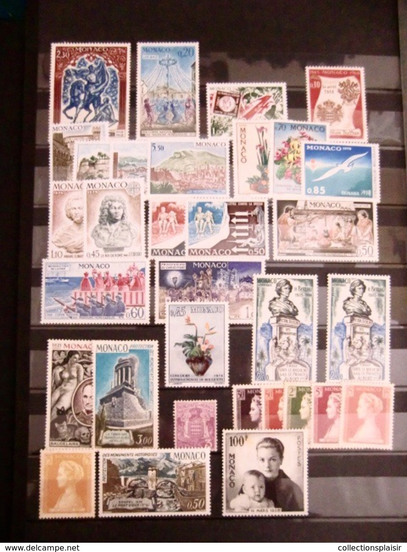 MONACO LIQUIDATION TRES IMPORTANTE COLLECTION DE TIMBRES NEUFS** EN MAJORITE NOMBREUX MULTIPLES BLOCS COINS DATES - Collections, Lots & Séries