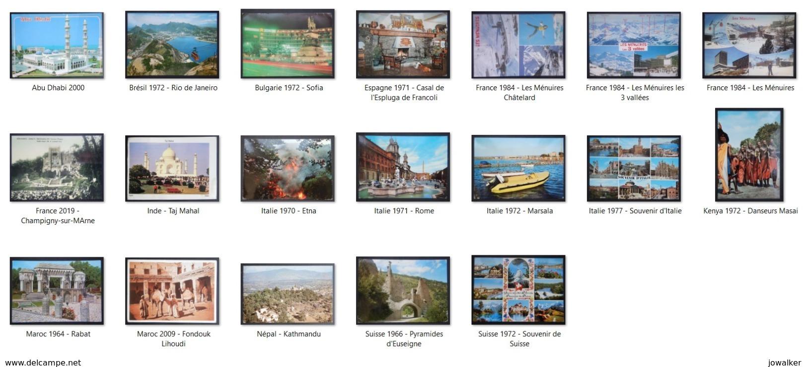 Lot De 19 Cpm Monde - 5 - 99 Cartoline