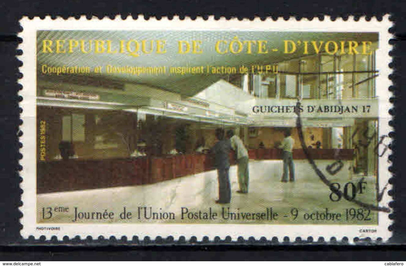 COSTA D'AVORIO - 1982 - 13^ GIORNATA DELL'UNIONE POSTALE UNIVERSALE (UPU) - USATO - Costa D'Avorio (1960-...)
