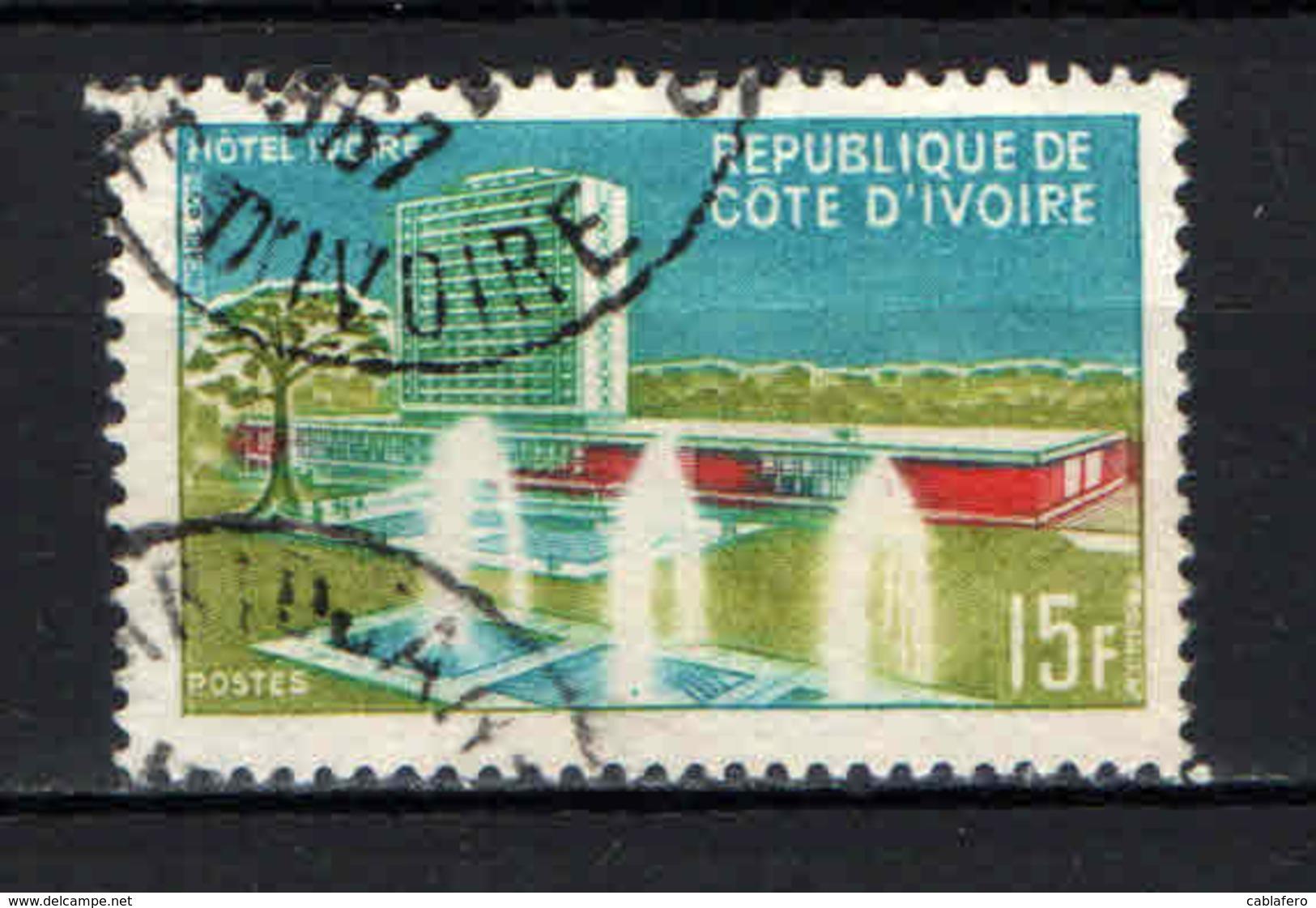 COSTA D'AVORIO - 1966 - HOTEL IVOIRE - USATO - Costa D'Avorio (1960-...)