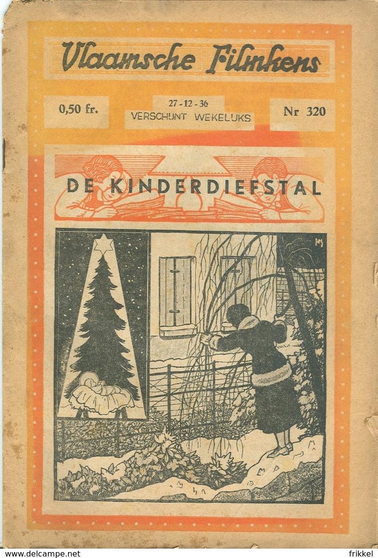 Vlaamsche Filmkens Nr 320 De Kinderdiefstal 1936 GROOT FORMAAT: 16x23,5cm ( Averbode's Jeugdbibliotheek ) KWATTA - Boeken, Tijdschriften, Stripverhalen