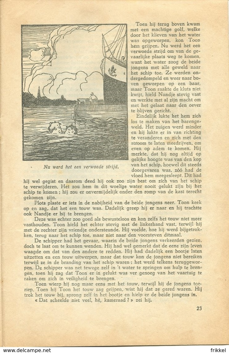 Vlaamsche Filmkens 324 Avonturen Van Ver En Van Dichtbij 1937 GROOT FORMAAT: 16x23,5cm Averbode's Jeugbibliotheek KWATTA - Boeken, Tijdschriften, Stripverhalen