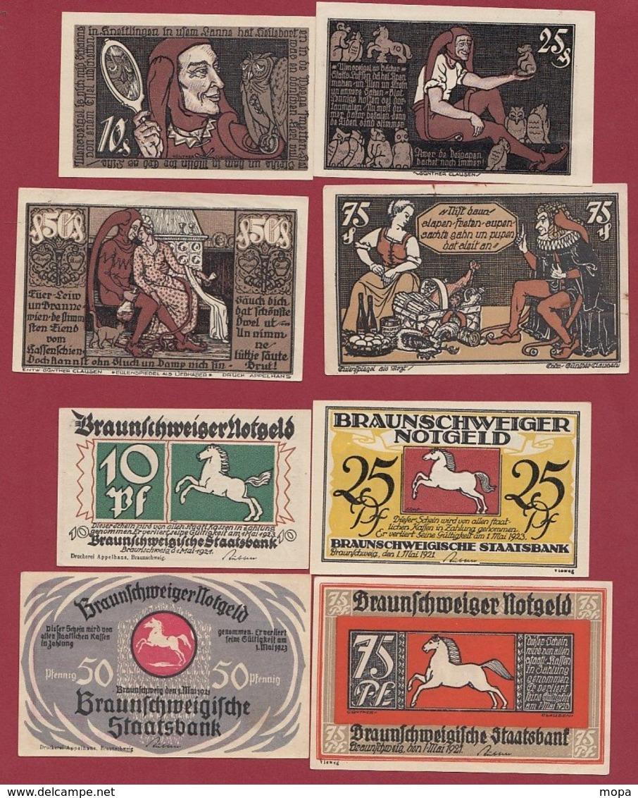 Allemagne 4 Notgeld  Stadt Braunschweiger  (Série Complète)  Dans L 'état N °27 - [ 3] 1918-1933 : República De Weimar
