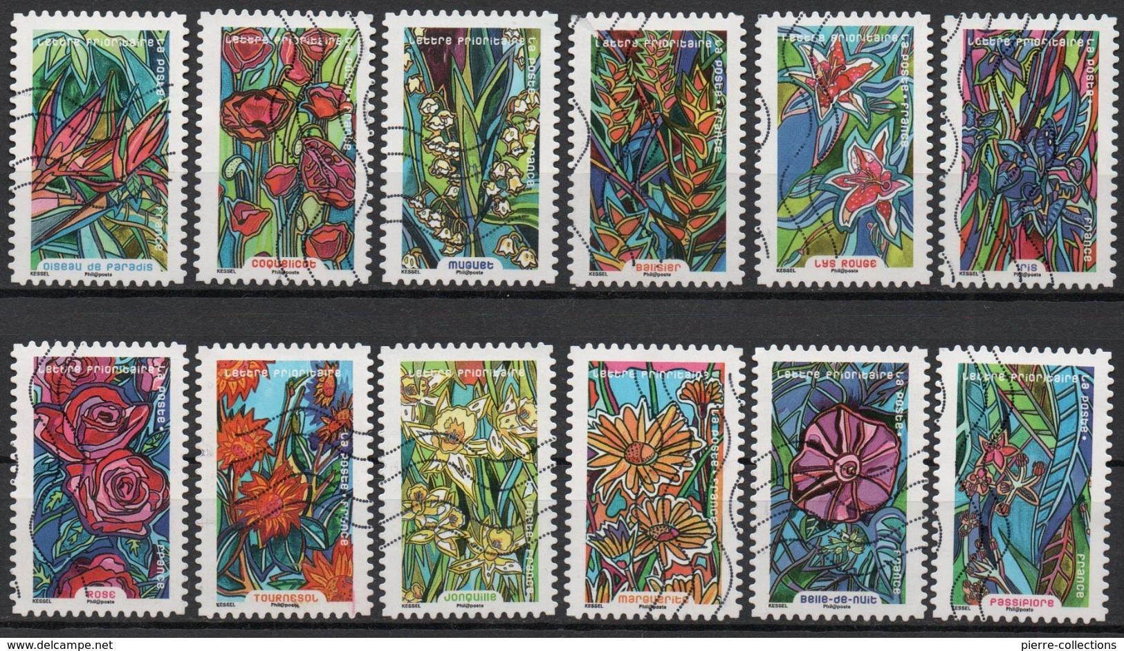 France - Adhésifs N° 1300 à 1311 Oblitérés - Série Complète - Botanique - Fleurs - France