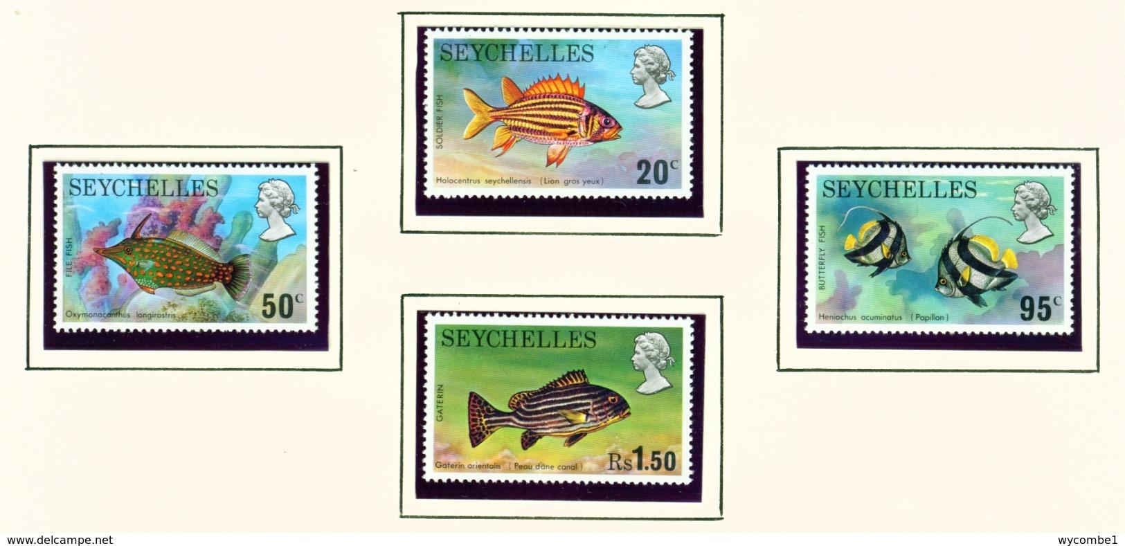 SEYCHELLES  -  1974 Fish Set Unmounted/Never Hinged Mint - Seychelles (...-1976)