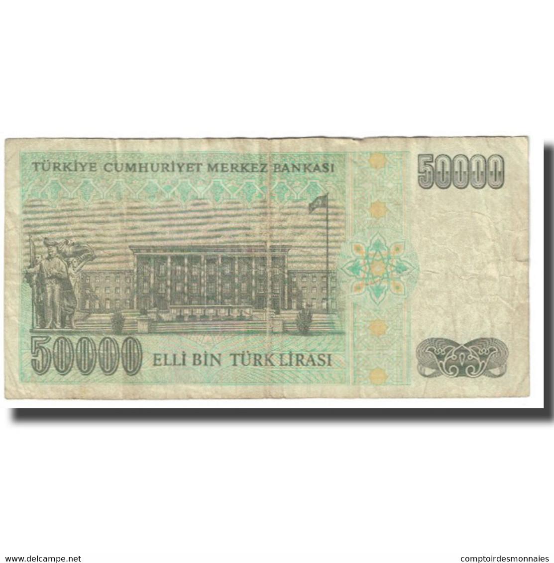 Billet, Turquie, 50,000 Lira, 1970, 1970-10-14, KM:203a, TB - Turchia