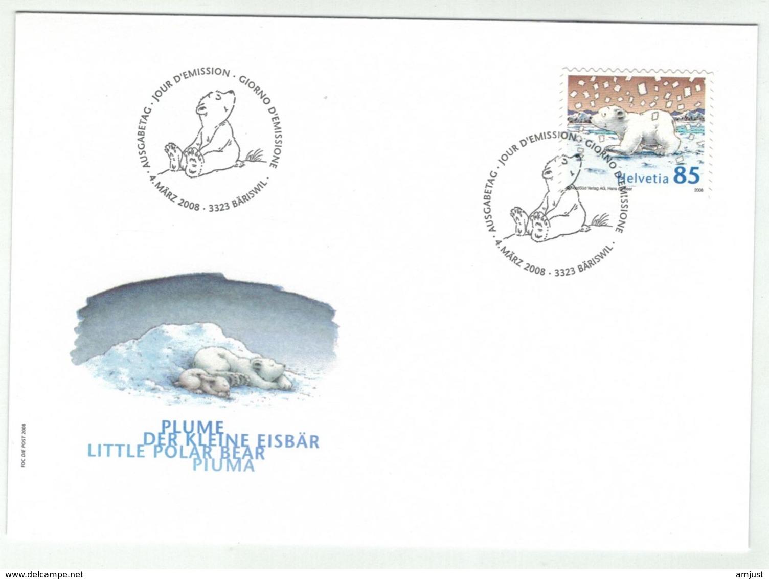 """Suisse//Schweiz// Switzerland// 2008 FDC // Ours """"Plume""""  No.1270 - FDC"""