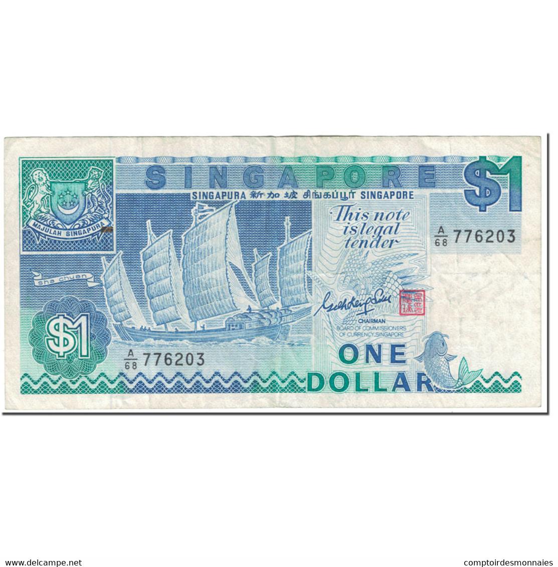 Billet, Singapour, 1 Dollar, 1987, Undated (1987), KM:18a, TB - Singapore