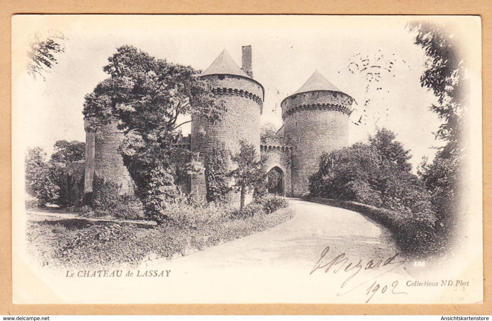 CPA Lassay, Le Château, Gel. 1902 - Frankrijk