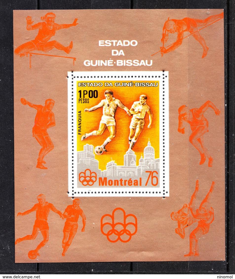 Guinea Bissau   - 1976.  Calcio:Torneo Olimpico. Raro Sheet Football: Olympic Tournament. Rare MNH Sheet - Estate 1976: Montreal