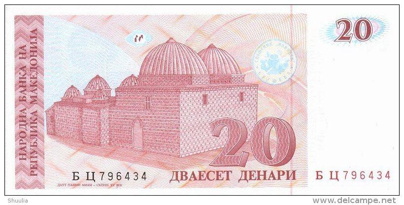 Macedonia 20 Denar 1993 Pick 10 UNC - Macedonia
