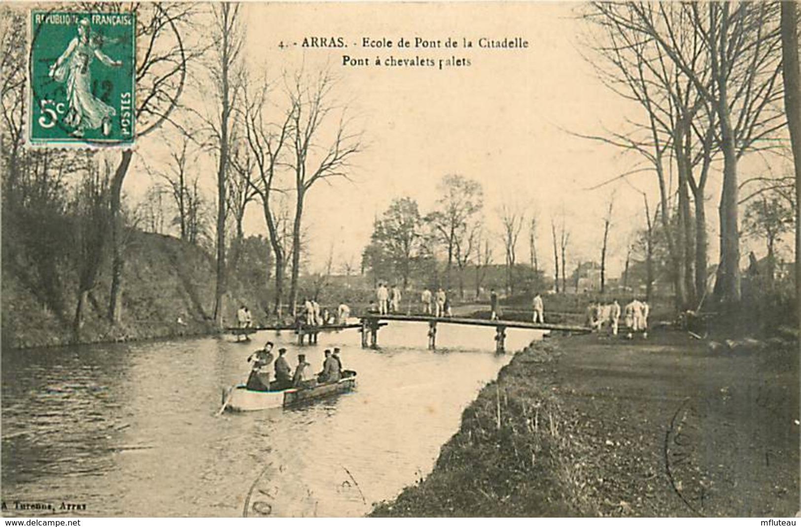 62* ARRAS Ecole Des Ponts  Genie – Pont A Chevalets              MA95,0201 - Arras
