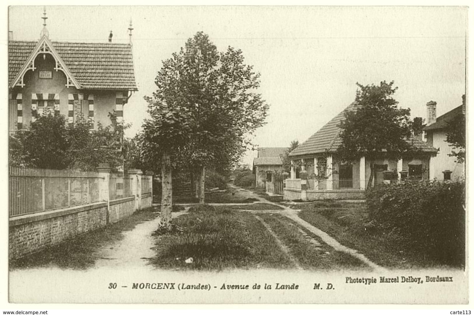 40 - B16905CPA - MORCENX - Avenue De La Lande, (chalet Beau-séjour) - Très Bon état - LANDES - Morcenx