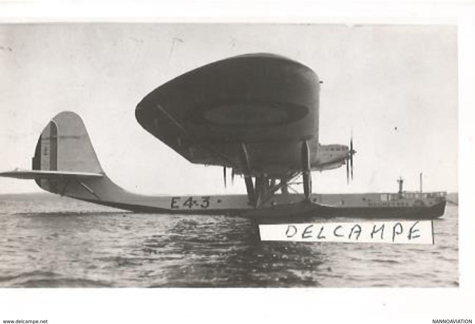 PHOTO AVION HYDRAVION LATéCOERE 302 C  N°1023 MOUNEYRES E4 12X8CM - 1939-1945: 2ème Guerre
