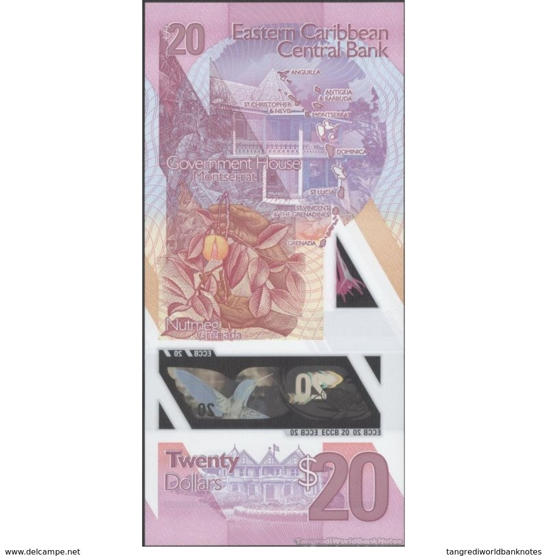 TWN - EAST CARIBBEAN NEW - 20 Dollars 2019 Polymer - Prefix PF UNC - Caraibi Orientale