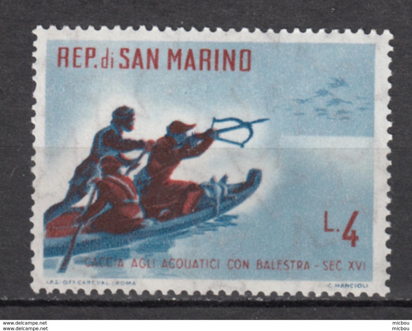 Saint-Marin, San Marino, MH, Tir à L'arc, Archery, Canard, Duck, Arbalette, Bateau, Boat - Tir à L'Arc