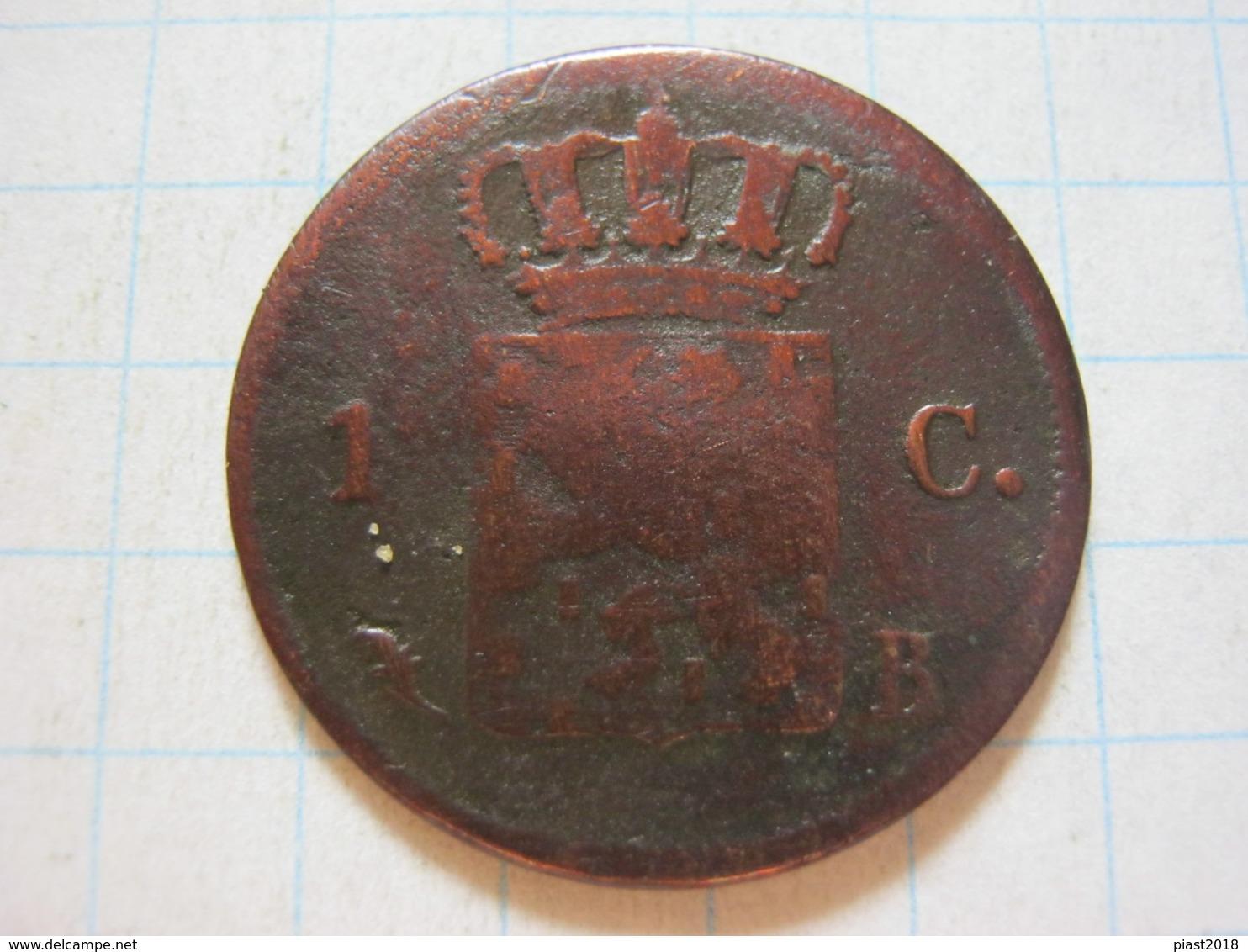 1 Cent 1826 B - 1815-1840 : Willem I