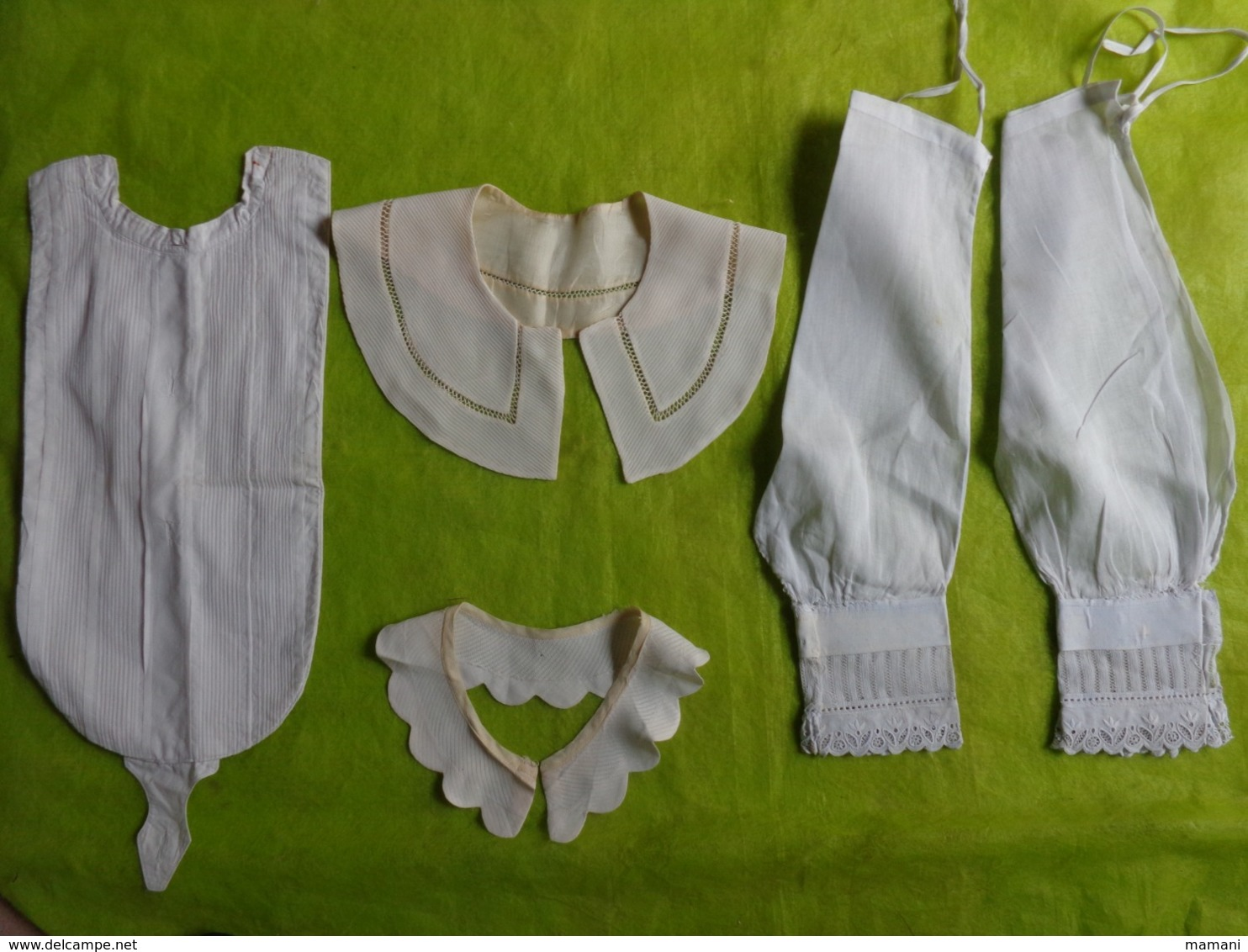 Lot De Faux Col - Plastron Et Autre (bas De Manche)  Ancien Retro Vintage 5117 - Vintage Clothes & Linen