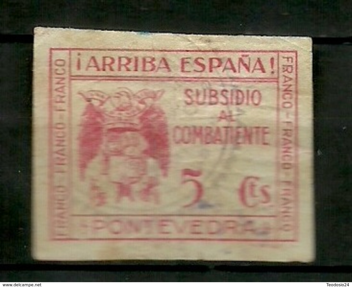 Subsidio Combatiente Pontevedra - Verschlussmarken Bürgerkrieg