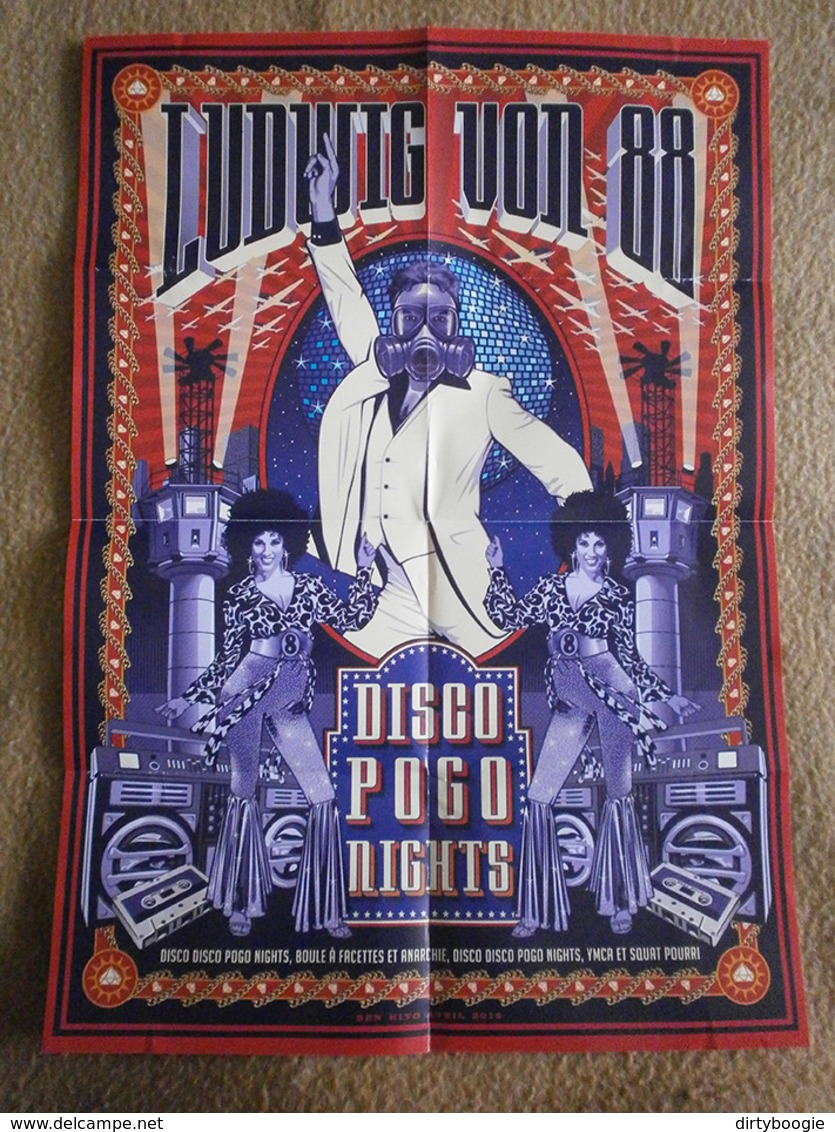 AFFICHE LUDWIG VON 88 - Disco Pogo Nights - BEN HITO - Plakate & Poster