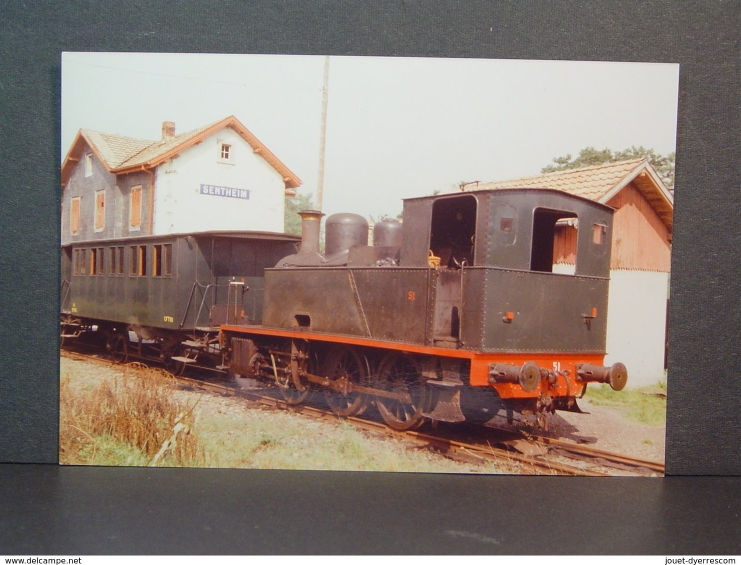 Locomotive à Vapeur 51 à Sentheim Photo N° 77-140-11 - Eisenbahnen