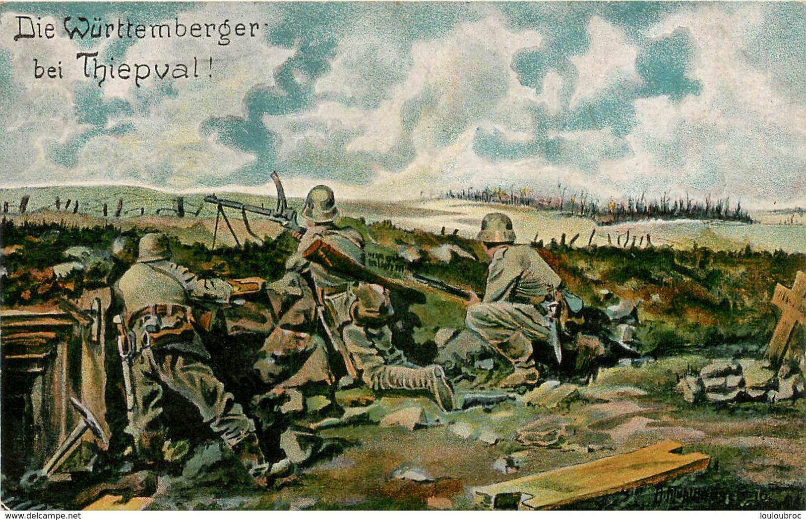 THIEPVAL CARTE ALLEMANDE 1917 - France