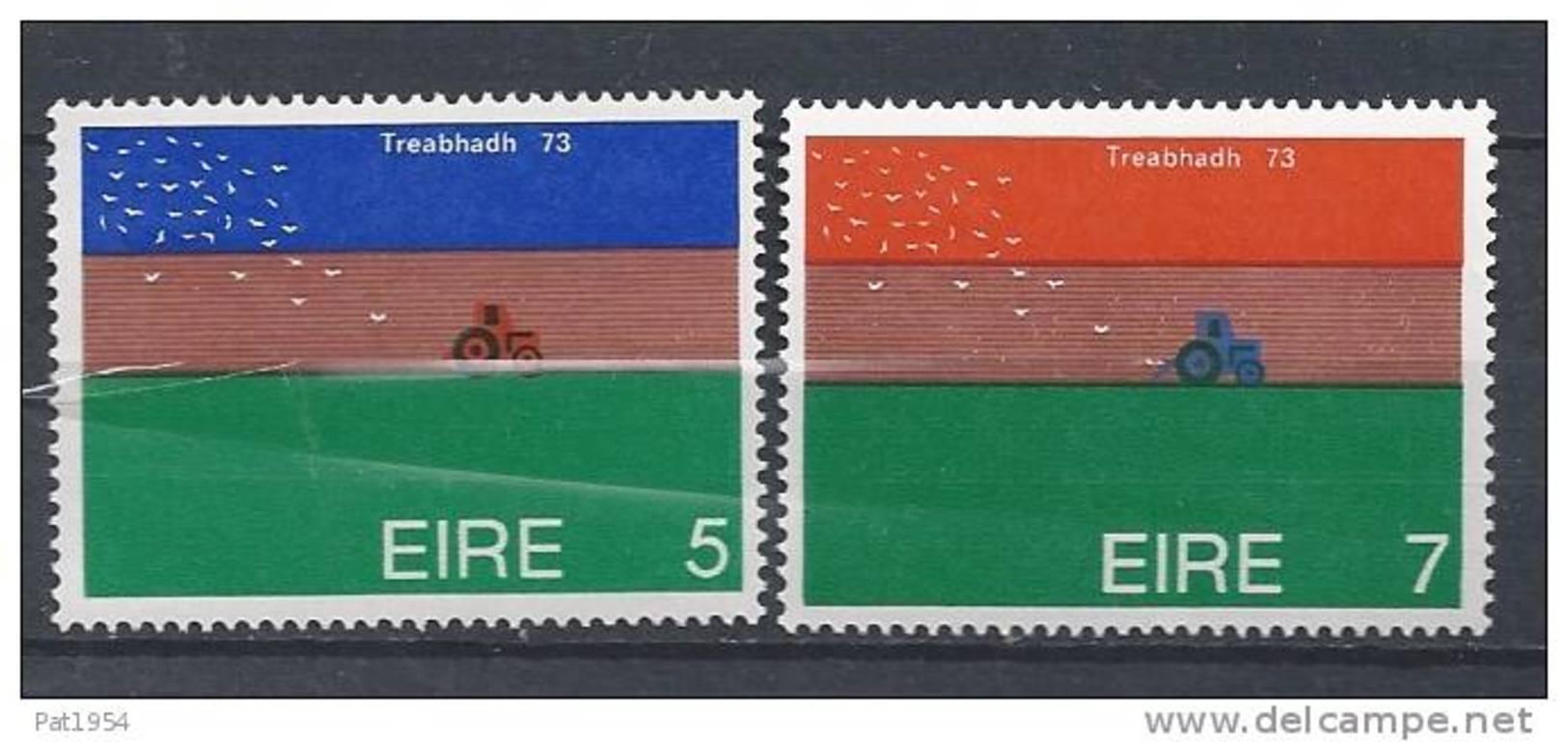Irlande 1973 N°296/297 Neufs ** Championnat De Labourage - 1949-... República Irlandése