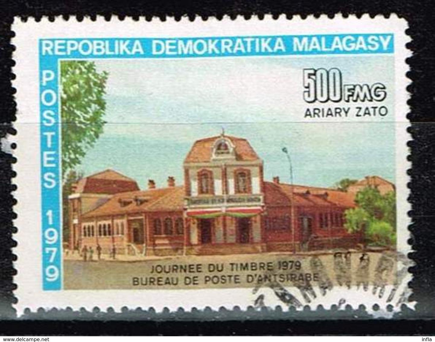 Madagaskar 1979, Michel# 854 O  Stamp Day: Post Office In Antsirabe - Madagaskar (1960-...)