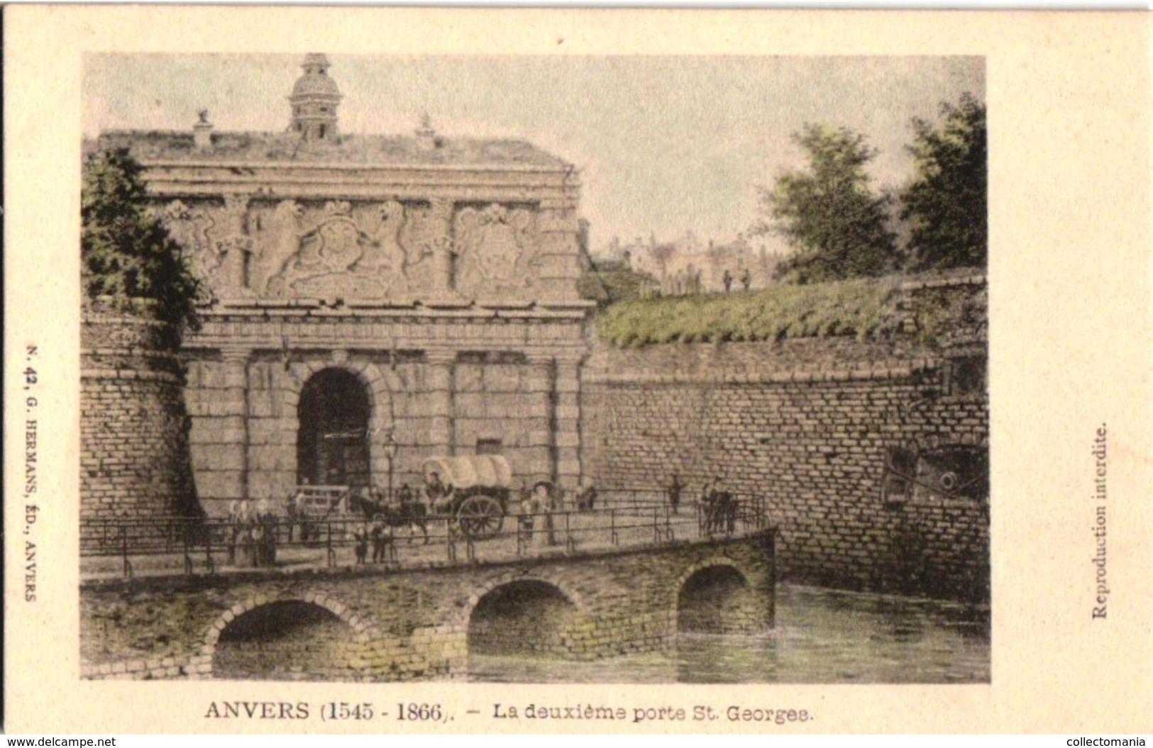 Bijzondere 96 Postkaarten, Dit Zijn Niet Van De  Gelijkaardige Reeks, Typo En Kleur !!  1-96 ANVERS In 1860, 1865 & 1866 - Antwerpen