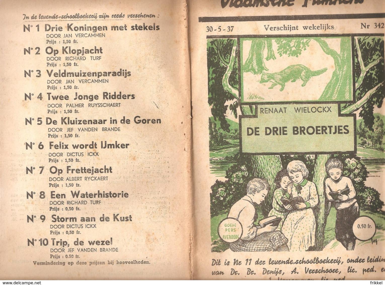 Vlaamsche Filmkens 342 De Drie Broertjes Renaat Wielockx 1937 GROOT FORMAAT: 16x23,5cm Averbode's Jeugbibliotheek - Antiquariat