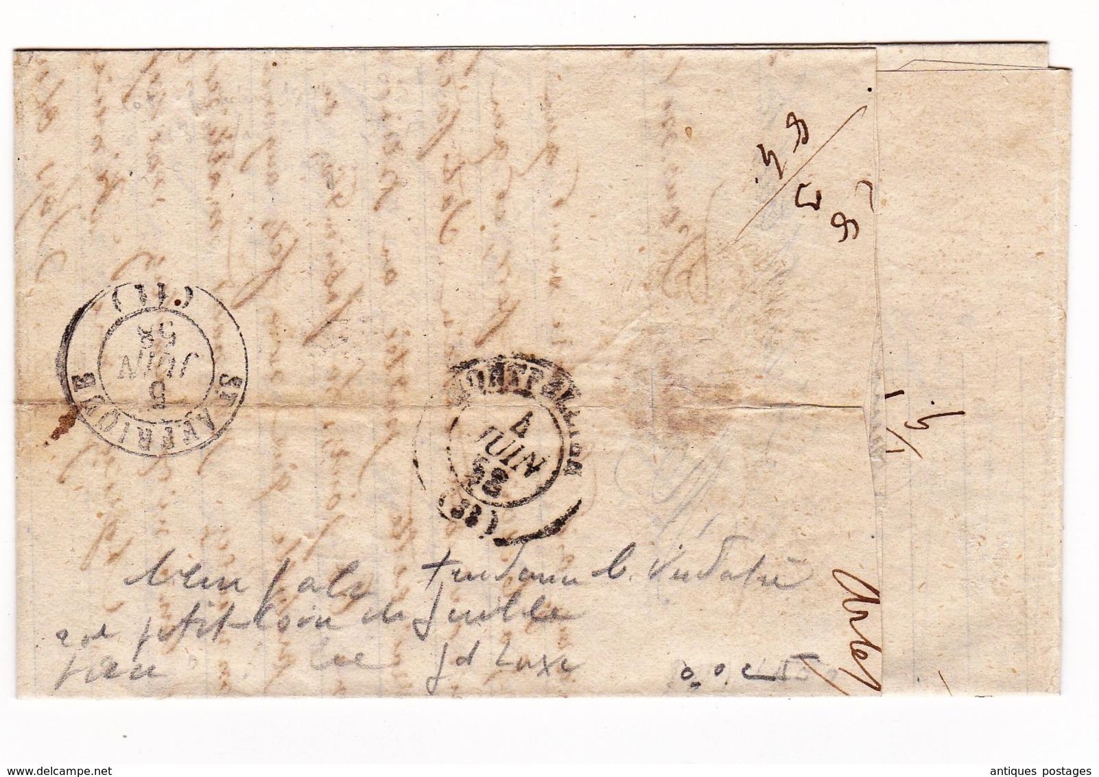 Arles Sur Tech 1858 Pyrénées Orientales Les Forges à La Catalane Jacques Dubois Sainte Affrique Aveyron - 1853-1860 Napoleon III