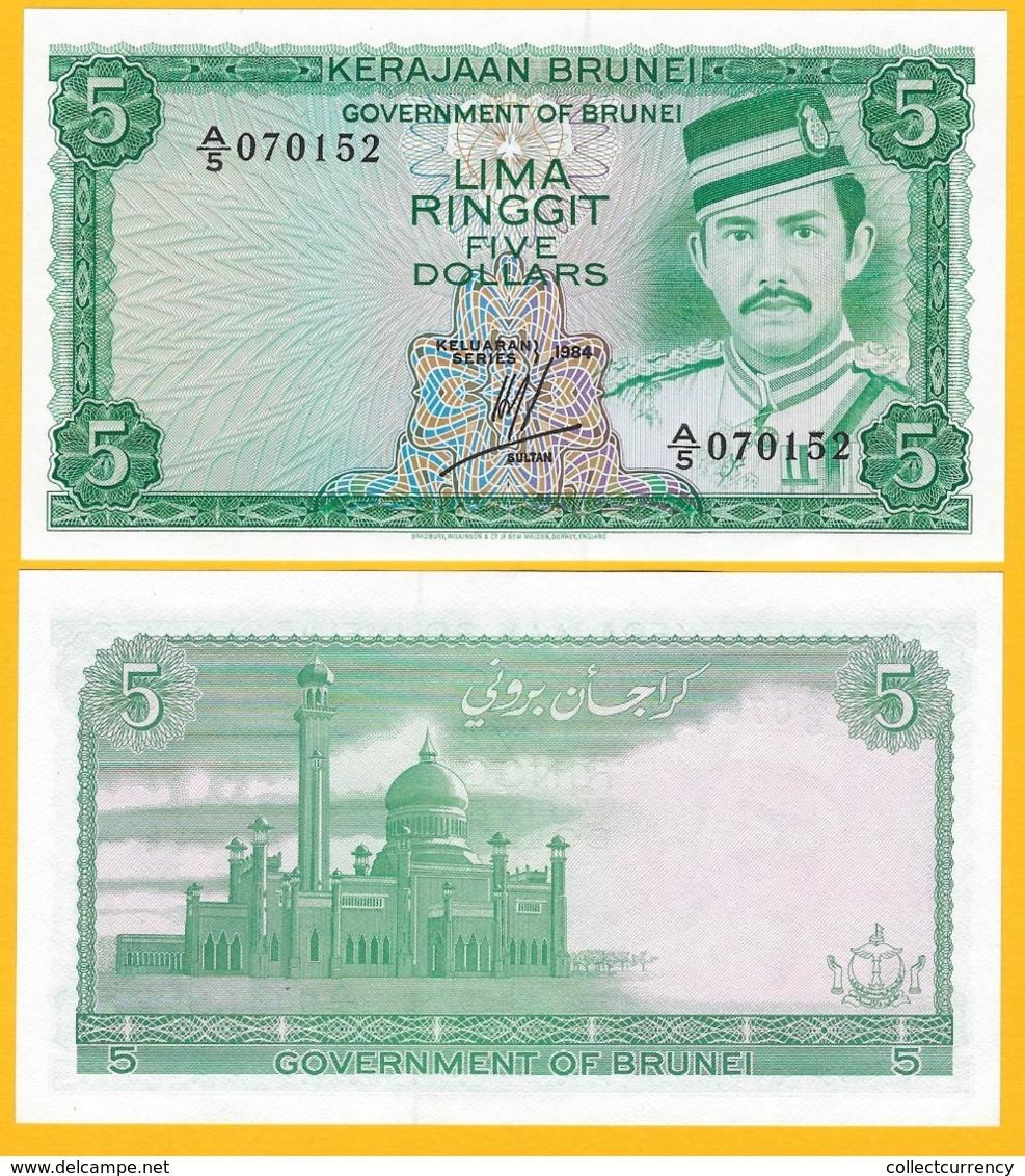 Brunei 5 Ringgit P-7b 1984 UNC Banknote - Brunei