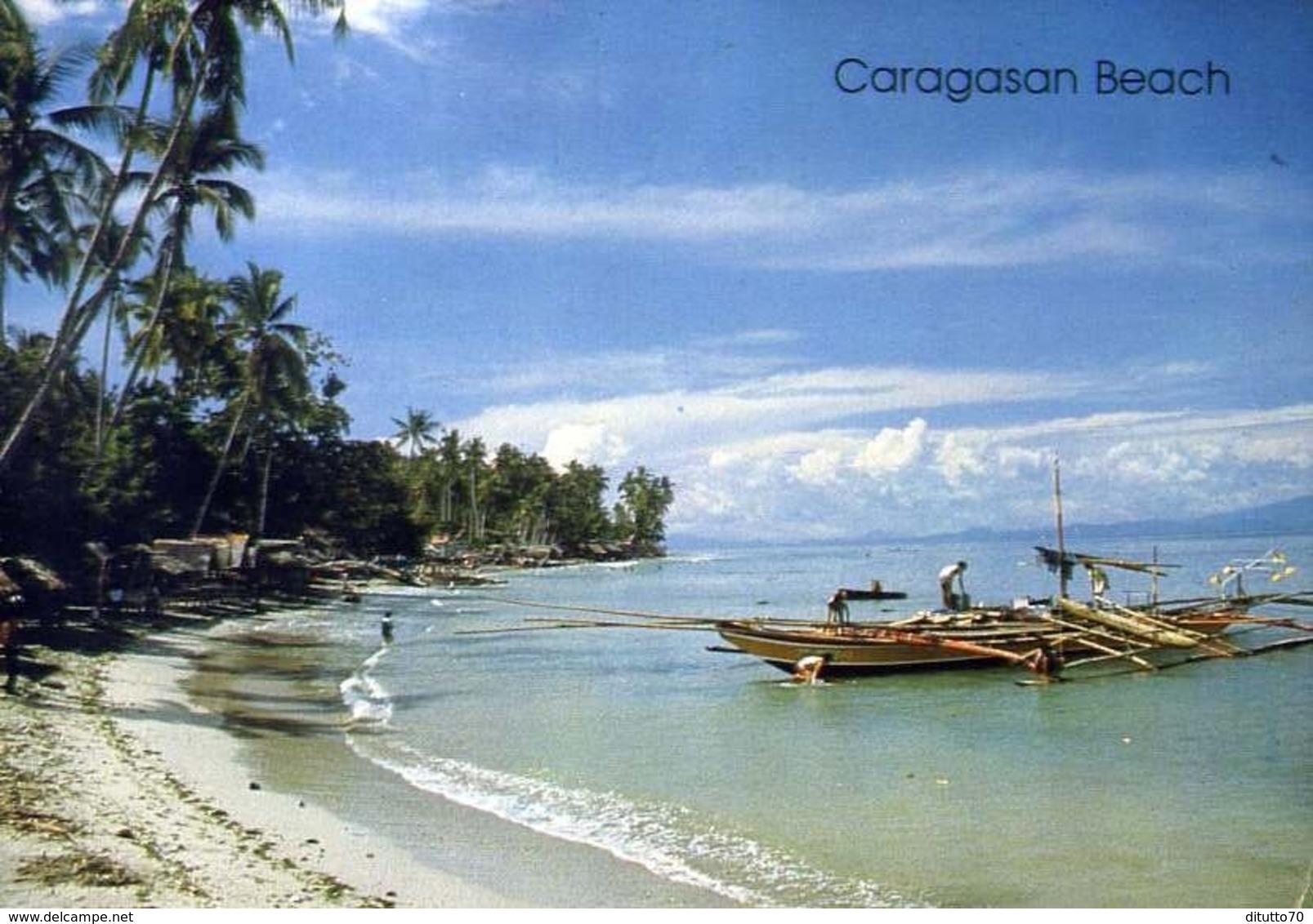 Caragasan Beach - Philippines - Formato Grande Viaggiata Mancante Di Affrancatura – E 13 - Filippine