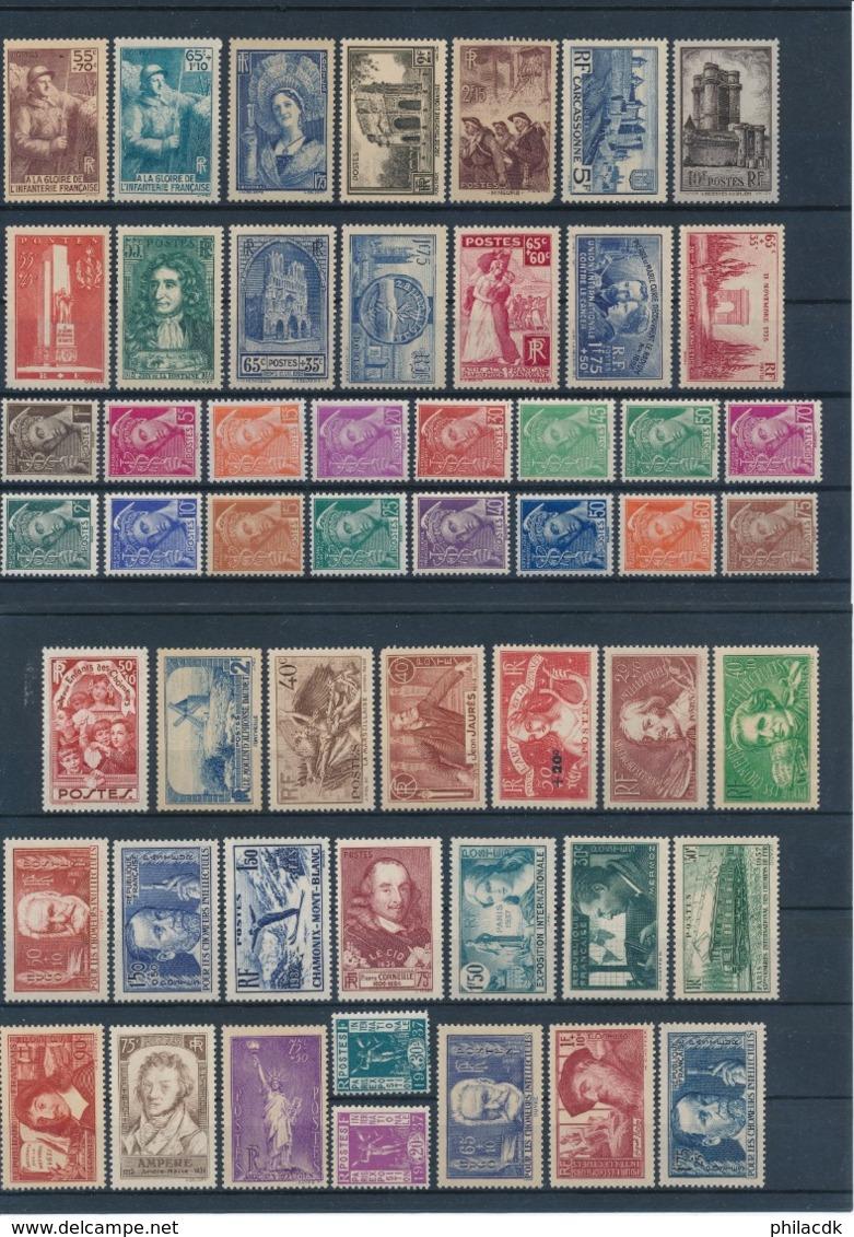 FRANCE - BELLE COLLECTION DE 124 TIMBRES NEUFS** SANS CHARNIERE - FORTE VALEUR CATALOGUE - A ETUDIER - Collections